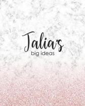 Talia's Big Ideas: Personalized Notebook - 8x10 Lined Women's Journal