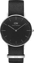 Daniel Wellington Classic Cornwall Black DW00100151 - Horloge - NATO - Zwart - Ø 36 mm