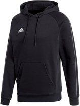 adidas Core 18 Hooded Sweater  Sporttrui casual - Maat L  - Mannen - zwart