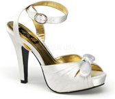 Bettie-04 ivory satin - (EU 40 = US 10) - Pin Up Couture