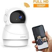 Looki ® 1080P Cloud Wifi HD Camera met iOS & Android App – I8 Wit -  Bestuurbare IP Video Beveiligingscamera met IR Nachtzicht en Bewegingssensor – Two-Way Audio – Babyfoon met app