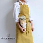 Sophie Nordinn® - Schort Malmö (Matcha) - Scandinavisch Keukenschort vrouwen - Nordic Apron - Kookschort dames - Keukentextiel