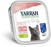 Yarrah welness pate biologische garnaal en zalm, kuipje - 16 ST à 100 gr