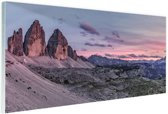 Panoramafoto Dolomieten Zuid-Tirol Glas 60x40 cm - Foto print op Glas (Plexiglas wanddecoratie)