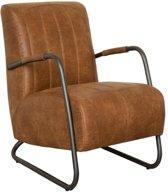 Industriële fauteuil Juno | leer Colorado cognac 03 | 78 cm breed