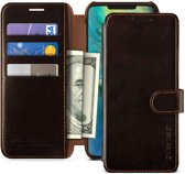 VRS Design Layered Dandy leather case Huawei mate 20 Pro - Bruin