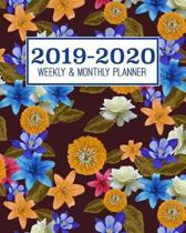 2019-2020 Weekly & Monthly Planner: Academic Planner for Students & Teachers - August 2019 through July 2020 - Schoolwork calendar with weekly checkli