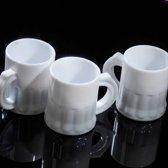 Witte kunststof shotglaasjes - 2,5 cl - 25 stuks