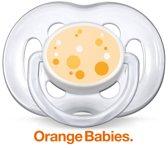 Philips Avent SCF180/54 - Fopspeen 6-18m - Oranje/wit - 2 stuks
