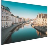 Stad in Europa Aluminium 60x40 cm - Foto print op Aluminium (metaal wanddecoratie)