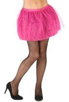 Roze tutu met ondoorzichtige onderrok voor vrouwen - Verkleedattribuut