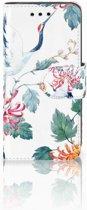 Samsung Galaxy S4 Mini i9190 Uniek Boekhoesje Bird Flowers