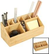 Pennenbakje van bamboe hout – Professionele kwaliteit – Bakje voor pennen, potloden en scharen – Bureau organizer met pennenhouder - Decopatent