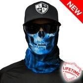 Skull Tech Blue Crow - Faceshield