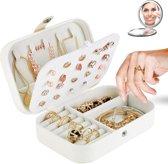Maux Sieraden doos | + Gratis spiegeltje! | Juwelendoos | Sieraden doos dames | Juwelendoosje meisjes / dames | Opbergbox | Opbergdoos | Ketting / oorbellen / ring / horloge