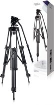 Video Tripod Pan & Tilt 150 cm Black