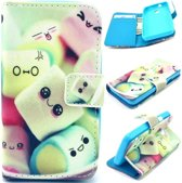 iCarer Candy print wallet case hoesje Alcatel One Touch Pixi 4 (3.5)