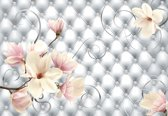 Fotobehang Flowers Pattern Abstract | XXL - 206cm x 275cm | 130g/m2 Vlies
