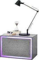 LED-Nachtkastje met afstandsbediening - betonlook