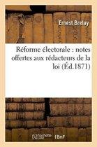 R�forme �lectorale