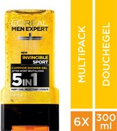 L'Oréal Men Expert Invincible Sport Douchegel - 6x300ml- Voordeelverpakking