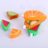 Correctieroller met fruit motief - Set van 3 stuks