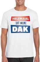 Wit Helemaal uit mijn dak t-shirt voor heren - Party t-shirts M