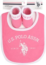 US POLO Baby Gift Set - Game Pink - Maat 0-6M