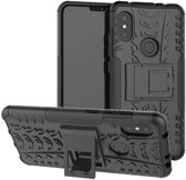 Xiaomi Redmi Note 6 Pro hoesje - Rugged Hybrid Case - zwart