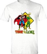 Thor - Thor & Loki Mannen T-Shirt - Wit - S