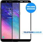 Glazen Screenprotector voor Samsung Galaxy A6 (FULL COVER) (ZWART) | Tempered glass | Gehard glas