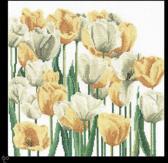 Thea Gouverneur Borduurpakket 3065 Tulpen - Linnen stof
