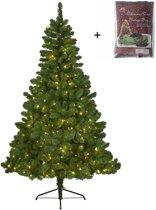 Everlands Imperial pine kunstkerstboom 150cm - met GRATIS opbergzak - Met verlichting met twinkel functie