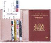 Paspoorthouder / Paspoorthoesje / Passport Wallet - V1 - Rose Goud