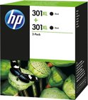 HP 301XL - Inktcartridge / Zwart / 2 Pack