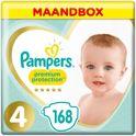 Pampers Premium Protection - Maat 4 (Maxi) 8-16 kg - Maandbox 168 Stuks - Luiers
