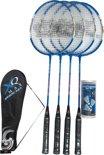 XQ Max BS300 - Badminton Set - 4 spelers - Blauw