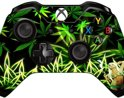Xbox One Controller Skin Sticker - Black and Green Marijuana and Sexy Smoking Girl