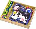 Melissa & Doug - Wooden Panels & Laces - Farm Animals