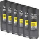 Dove Men+Care Fresh Awake - 6 x 250  ml - Douche Gel - Voordeelverpakking