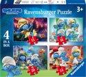 Ravensburger De Smurfen Vier puzzels - 12+16+20+24 stukjes - kinderpuzzel