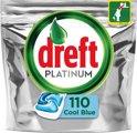 Dreft Platinum Blue - Kwartaalbox 5 x 22 Stuks - Vaatwastabletten