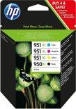 HP 950XL / 951XL - Inktcartridge / Zwart / Cyaan / Magenta / Geel / Hoge Capaciteit / 4-Pack (C2P43AE)