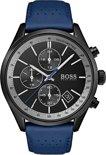 Hugo Boss HB1513563 horloge heren - blauw - edelstaal PVD zwart