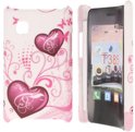 LG T385 Hard Case Hoesje - Purple Hearts