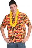 Hawaii shirt rood/oranje 56-58 (2xl/3xl)