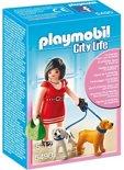 Playmobil Vrouw met puppy's - 5490