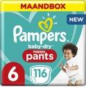 Pampers Baby-Dry Pants - Maat 6 (Extra Large) 15+ kg - Maandbox 116 Stuks - Luierbroekjes