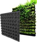 Verticale tuin / eetbare wand / plantenzakken voor 64 planten – hangende plantenbak 100 cm x 100 cm