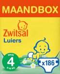 Zwitsal Maandbox Maat 4 (Maxi) 8-16 kg - 186 stuks - Luiers